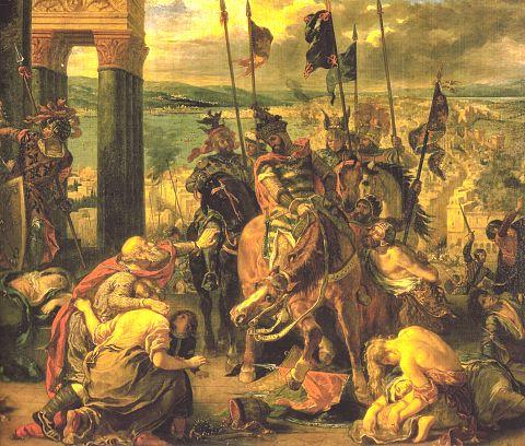 La prise de Constantinople en 1204 par Eugène Delacroix (1798-1863)